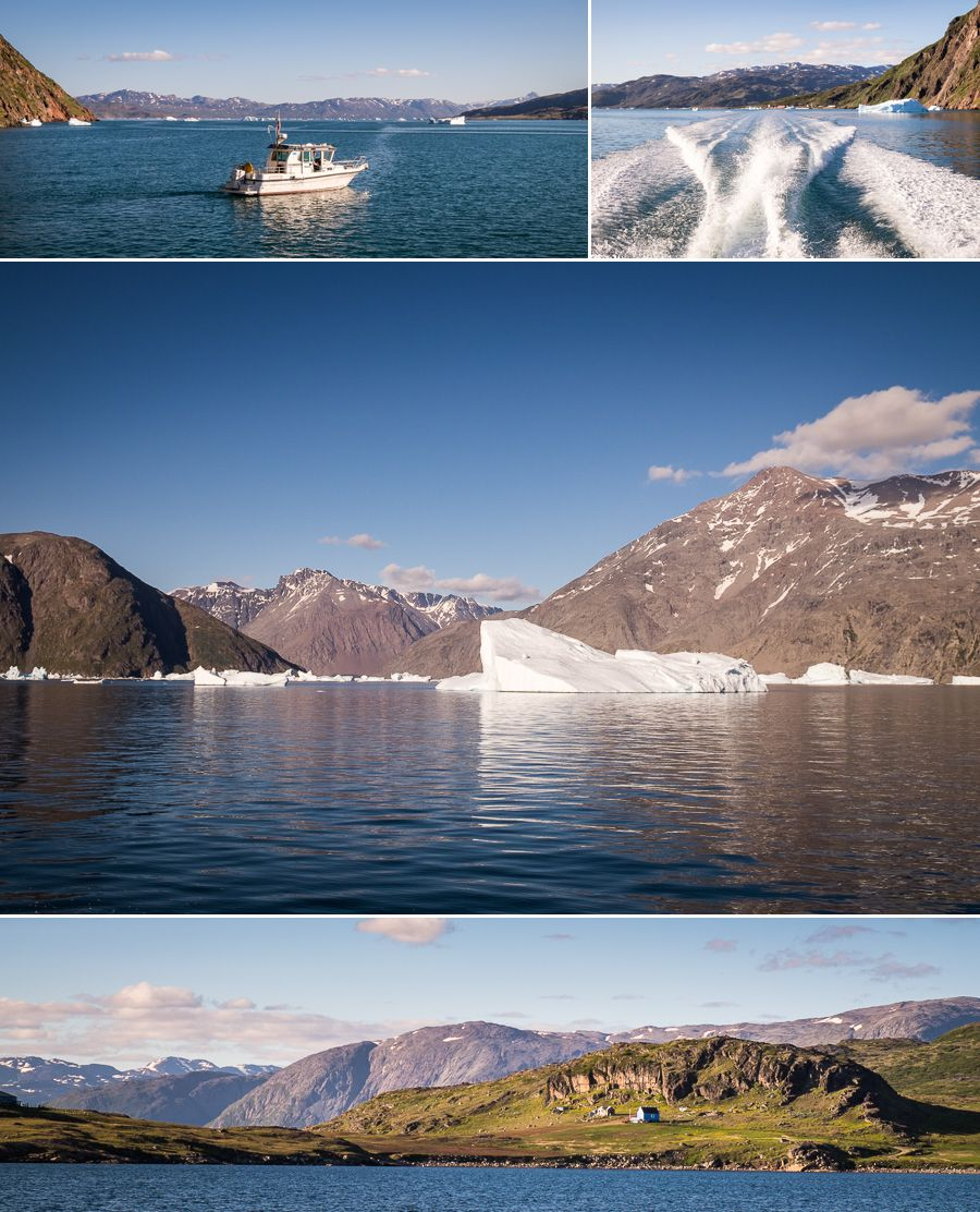 Up the fjord to Narsaq from Narsarsuaq - South Greenland