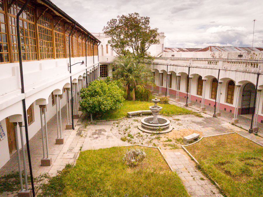 Unrestored part of the Centro del Arte Contemporaneo - Quito