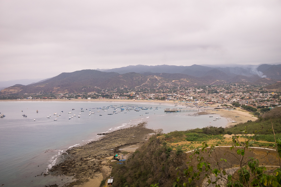 View of Puerto Lopez from the lookout - Ecuador