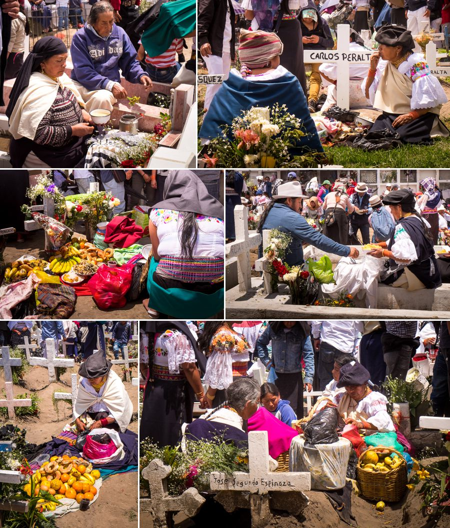 Picnics on the graves - Día de los difuntos - Otavalo - Ecuador