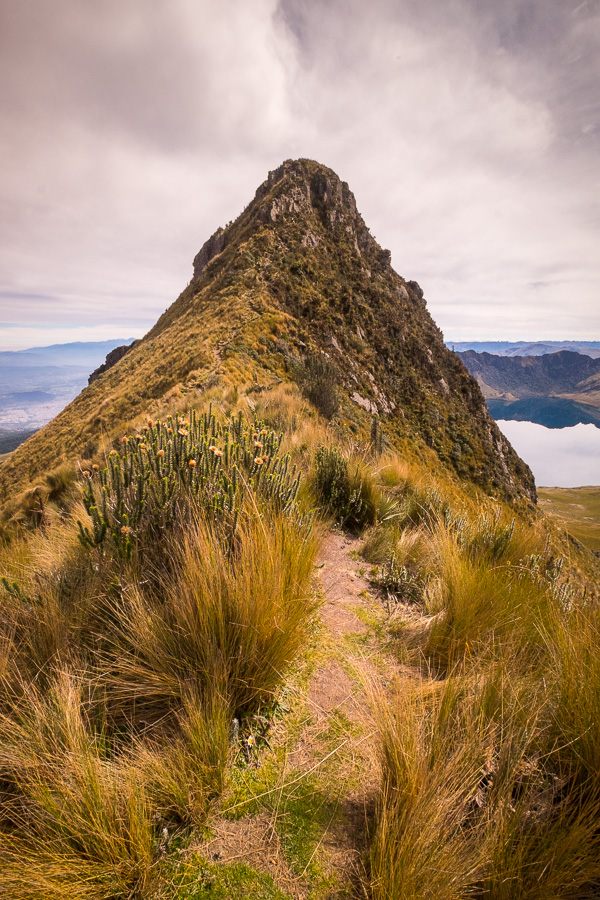 The slightly lower Fuya Fuya peak as seen from the saddle point. Near Otavalo, Ecuador