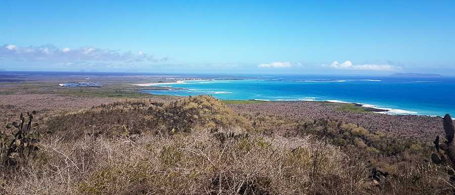 Viewpoint from El Radar on Isla Isabela - Galapagos Islands - Ecuador