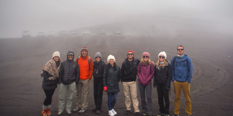 Our hiking group for the Cotopaxi day tour with CarpeDM Tours in Ecuador