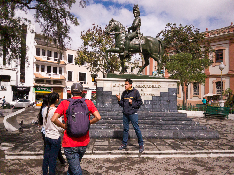 Guide from Free Walks Loja explaining the history of the town - Ecuador