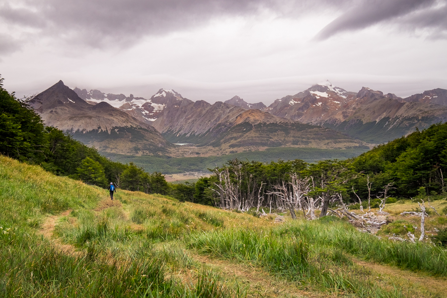 Hiking in the green valley - Laguna Turquesa - Ushuaia - Argentina