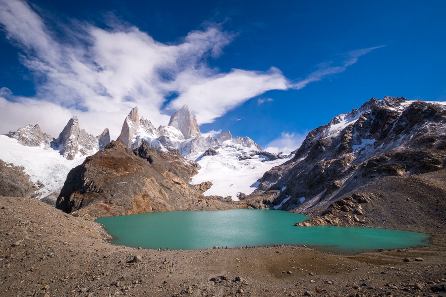 The Laguna de los Tres with Cerro Fitz Roy in the background - El Chaltén - Argentina