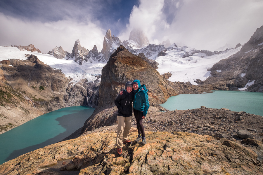 Mathilde and I at the Laguna de los Tres and Laguna Sucia - El Chaltén - Argentina