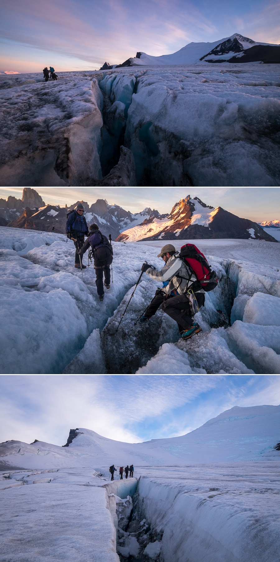 Images of crevasse field - Gorra Blanca - South Patagonia Icefield Expedition - Argentina