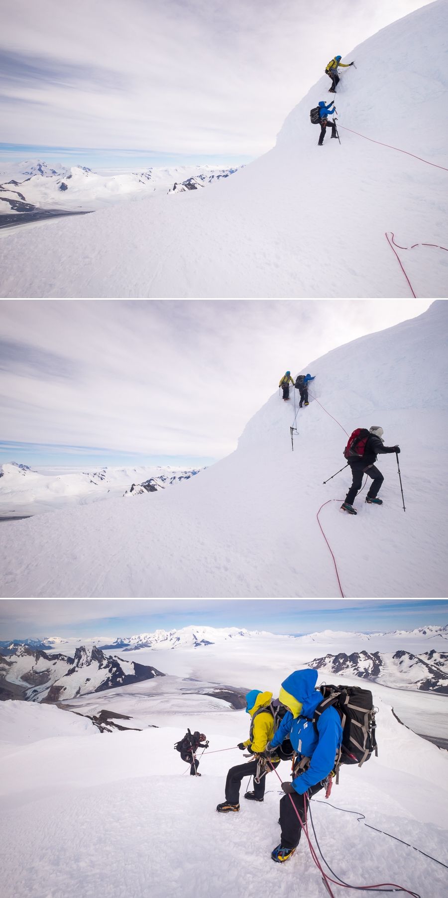 Climbing the summit mushroom of Gorra Blanca - South Patagonia Icefield Expedition - Argentina