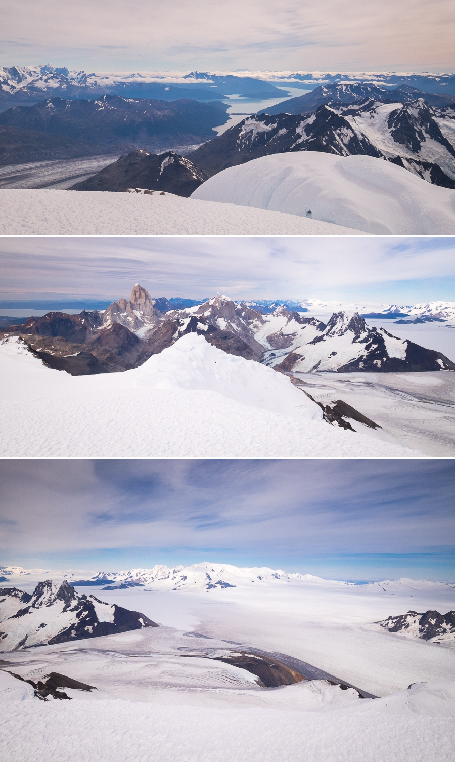 Views from the summit of Gorra Blanca - South Patagonia Icefield Expedition - Argentina