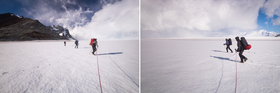 Another rope configuration - South Patagonia Icefield Expedition - Argentina