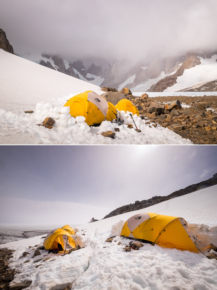 Circo de los Altares camp - South Patagonia Icefield Expedition - Argentina