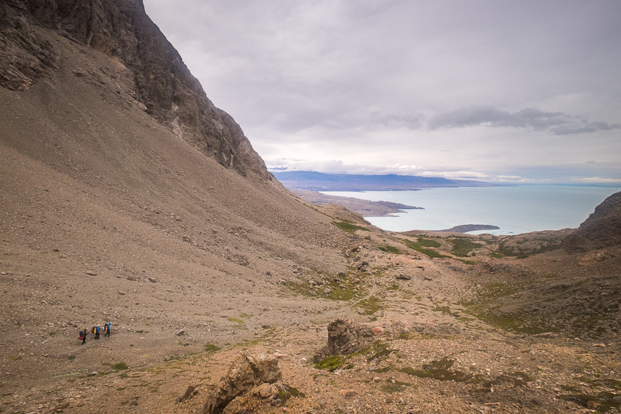 Descending from Paso Huemul - South Patagonia Icefield Expedition - Argentina