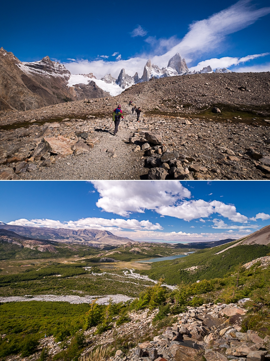 Views from the very steep final part of the trail to the Laguna de los Tres - El Chaltén - Argentina