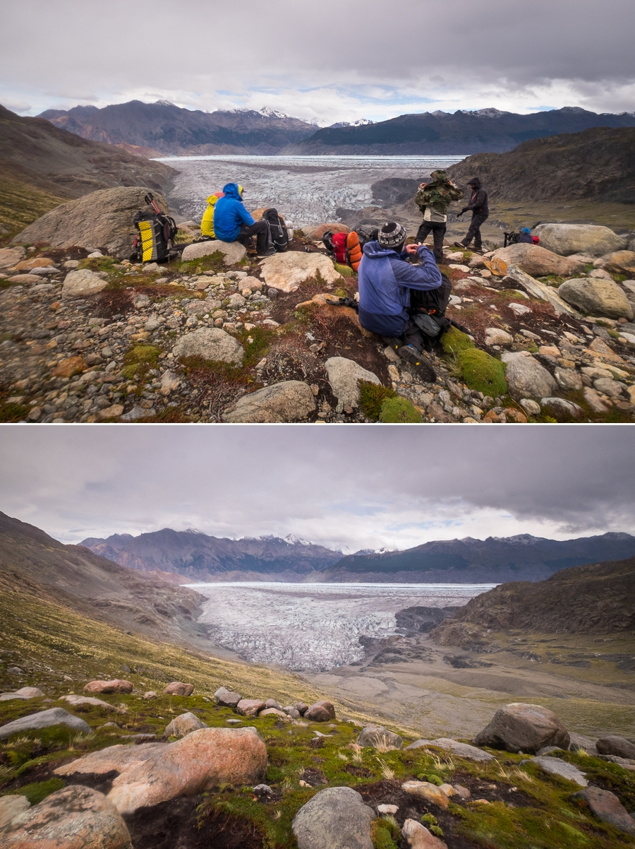 Rest stop overlooking the Viedma Glacier- South Patagonia Icefield Expedition - Argentina