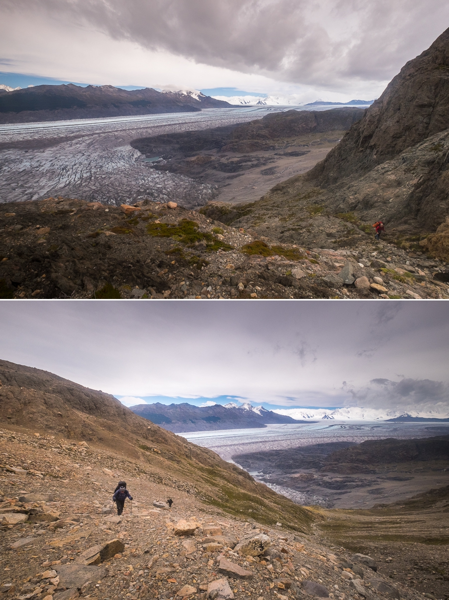 Asending the Huemul Pass - South Patagonia Icefield Expedition - Argentina