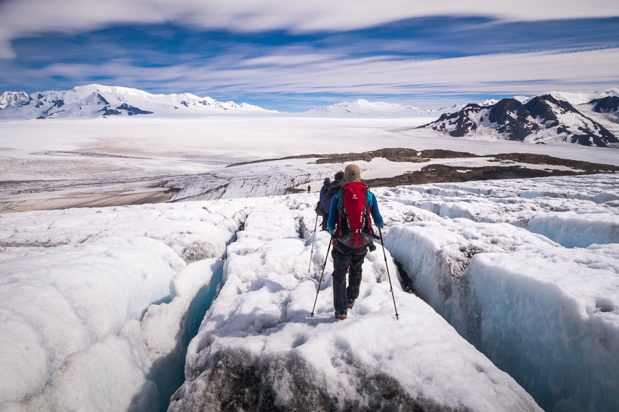 Negotiating the crevasse field - South Patagonia Icefield - Argentina