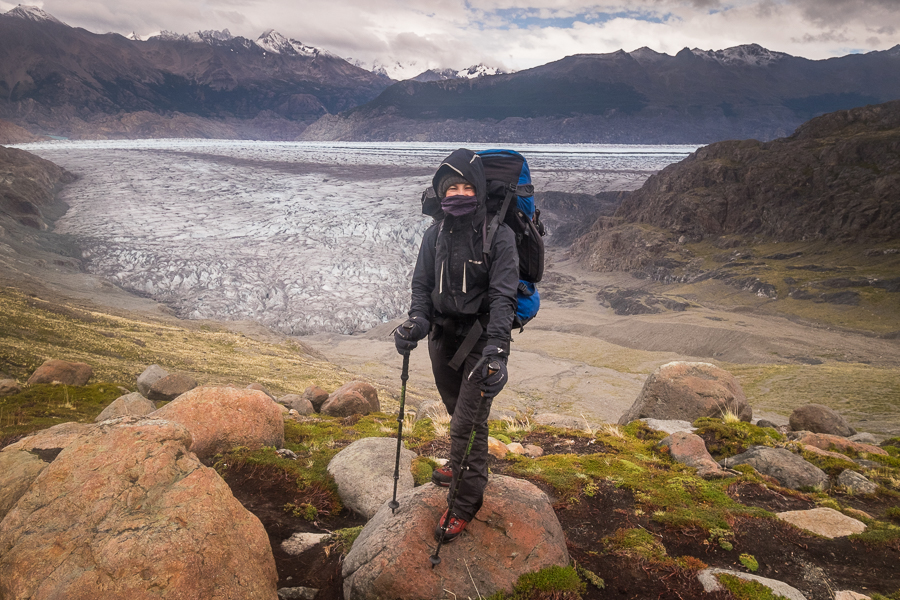 Me in all my gear - South Patagonia Icefield Expedition - Argentina