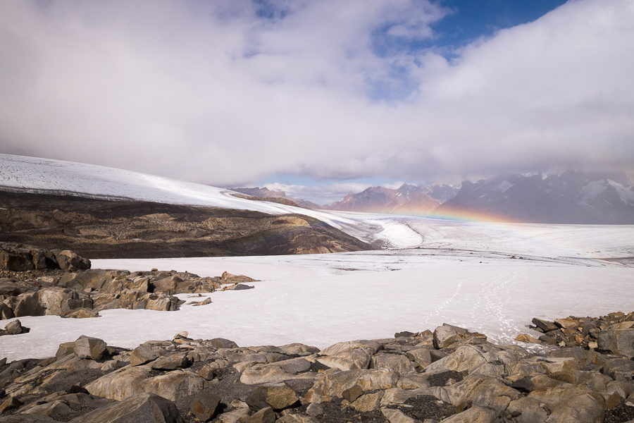 Rainbow over the glacier - South Patagonia Icefield Expedition - Argentina
