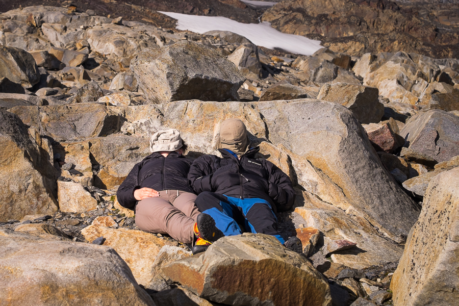 Soaking in the sun outside the Refugio Garcia Soto - South Patagonia Icefield Expedition - Argentina