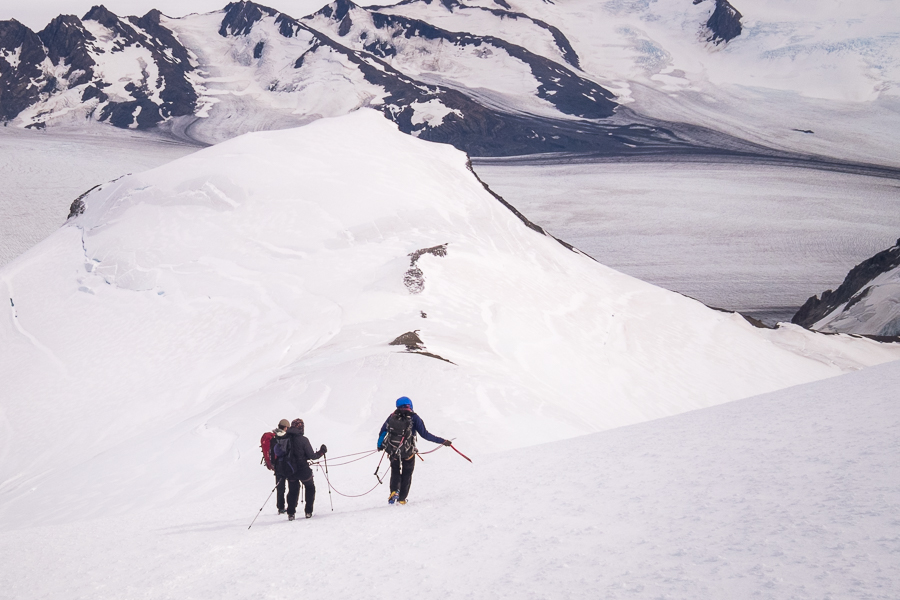 The decent - Gorra Blanca - South Patagonia Icefield Expedition - Argentina