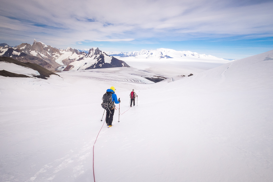 Descending Gorra Blanca - South Patagonia Icefield Expedition - Argentina