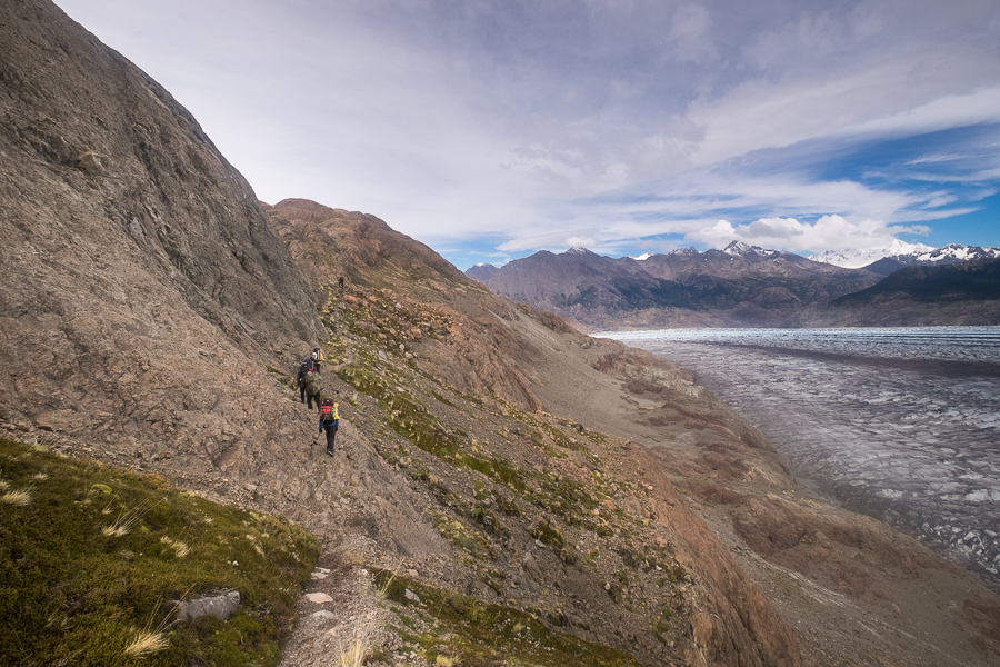 First part of the trail to the Huemul Pass - South Patagonia Icefield Expedition - Argentina