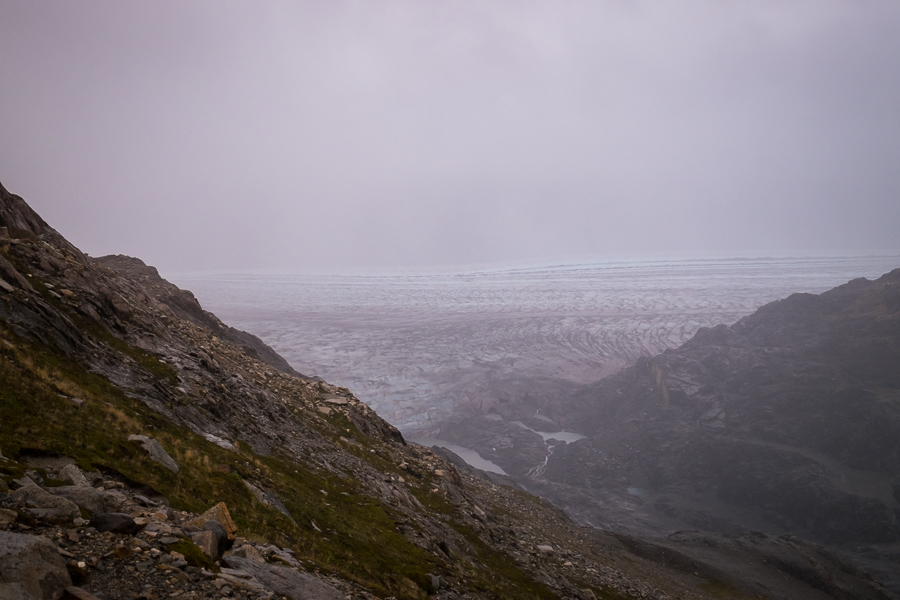 Half-views of the Viedma Glacier through the rain and fog - South Patagonia Icefield Expedition - Argentina