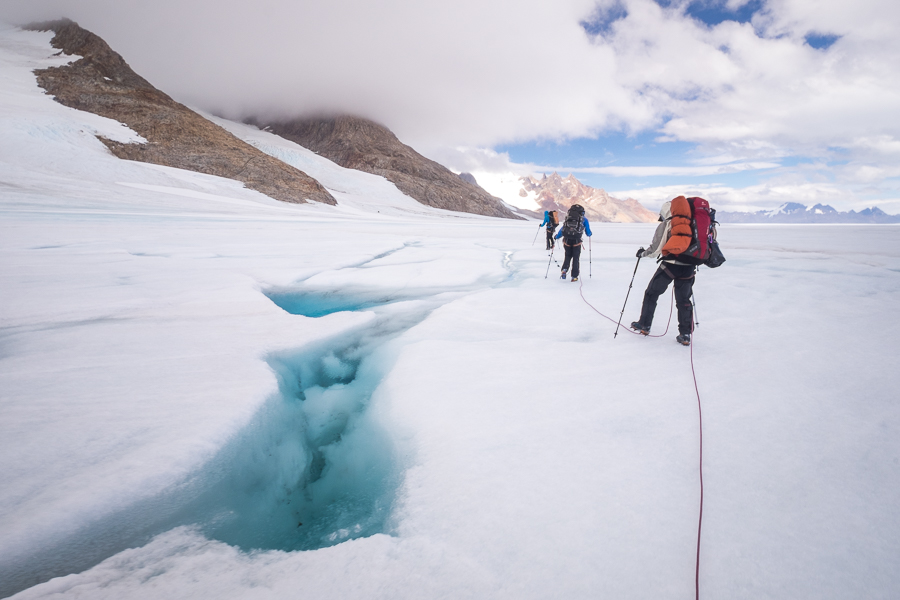 water-filled crevasse - South Patagonia Icefield Expedition - Argentina