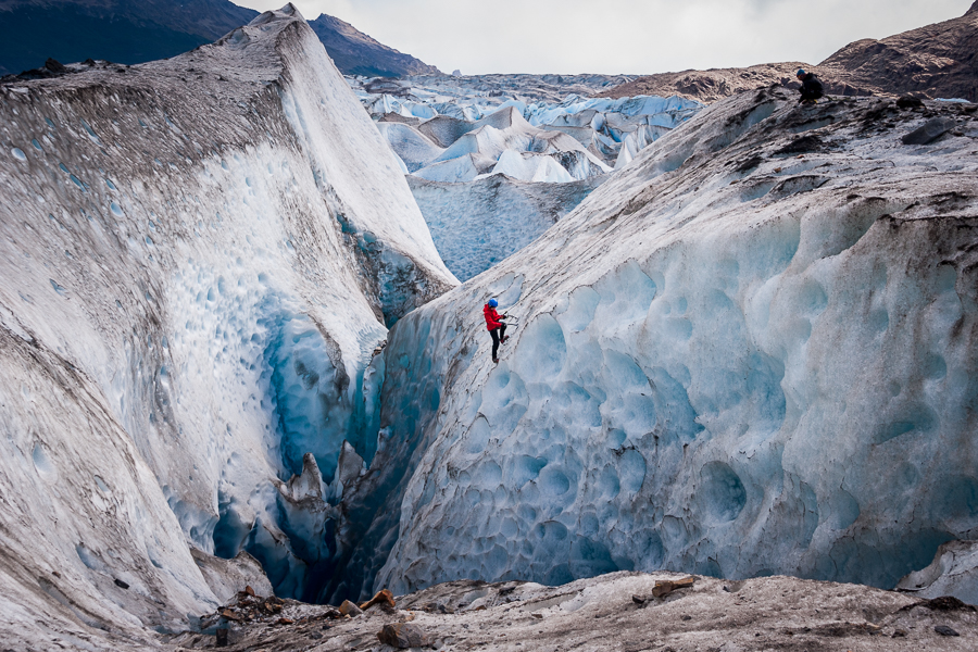 Ice climbing on the Viedma Glacier - Los Glaciares National Park - Argentina