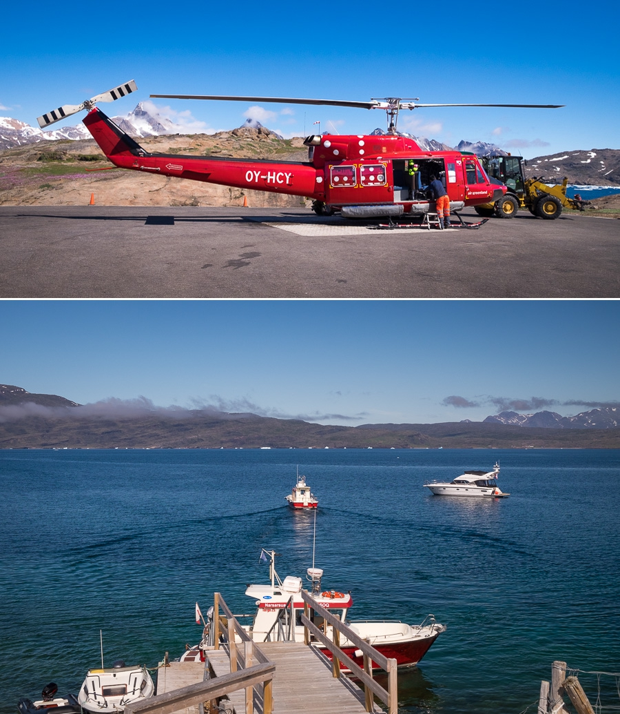 Flying or boating are the main methods used to get around Greenland