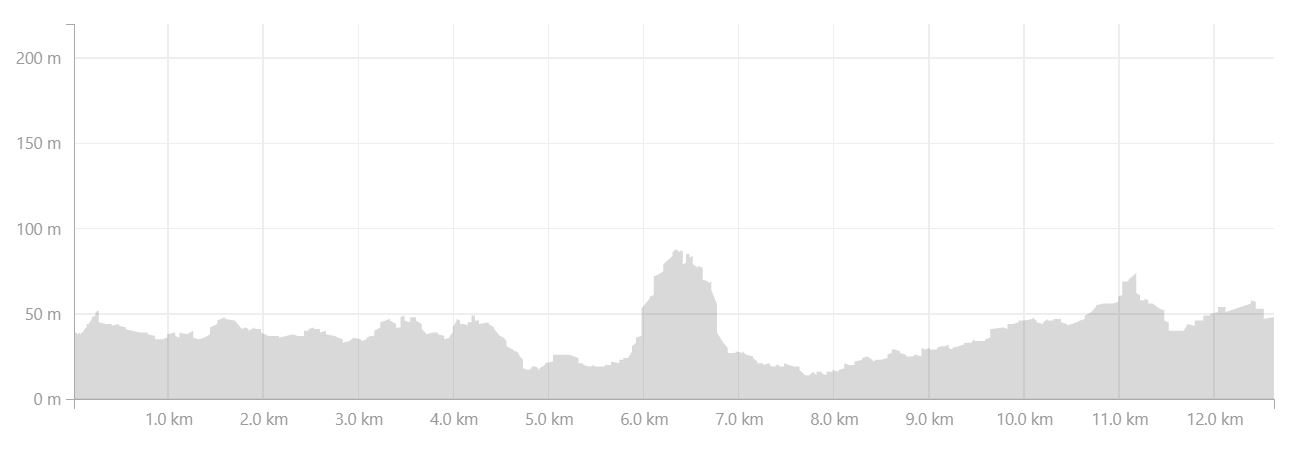 Altitude profile of hike to Illitsiartik on Day 4 of Icefjords and Remote Villages Trek - from Strava