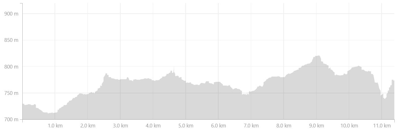Altitude profile of Day 1 of Shadow of Vatnajokull from Strava