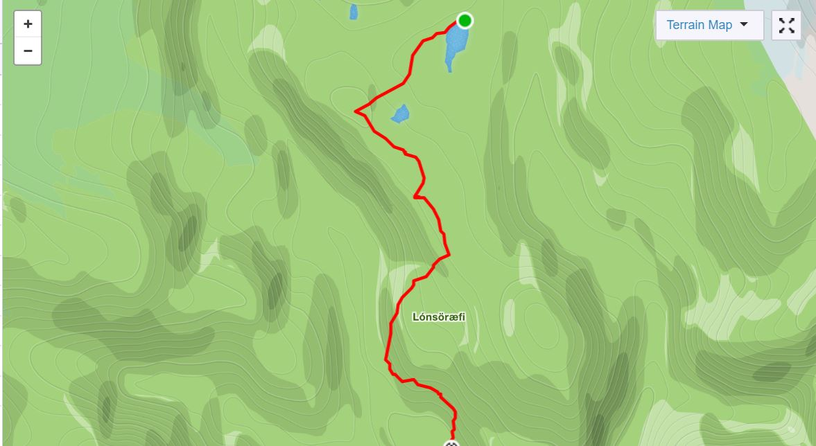 Basic Map of Day of In the Shadow of Vatnajokull - from Strava