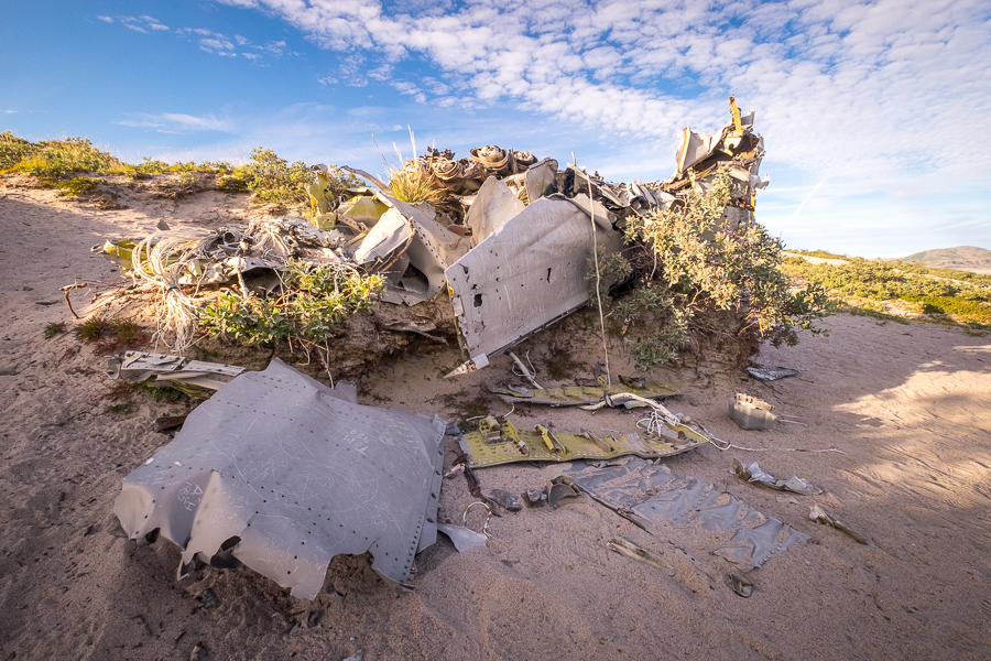 remains of a plane that crashed near Kangerlussuaq in the 1960s - along the road to Russell Glacier