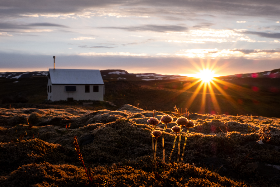 Sunrise at Egilssel Hut - Day 3 of In the Shadow of Vatnajökull trek - East Iceland