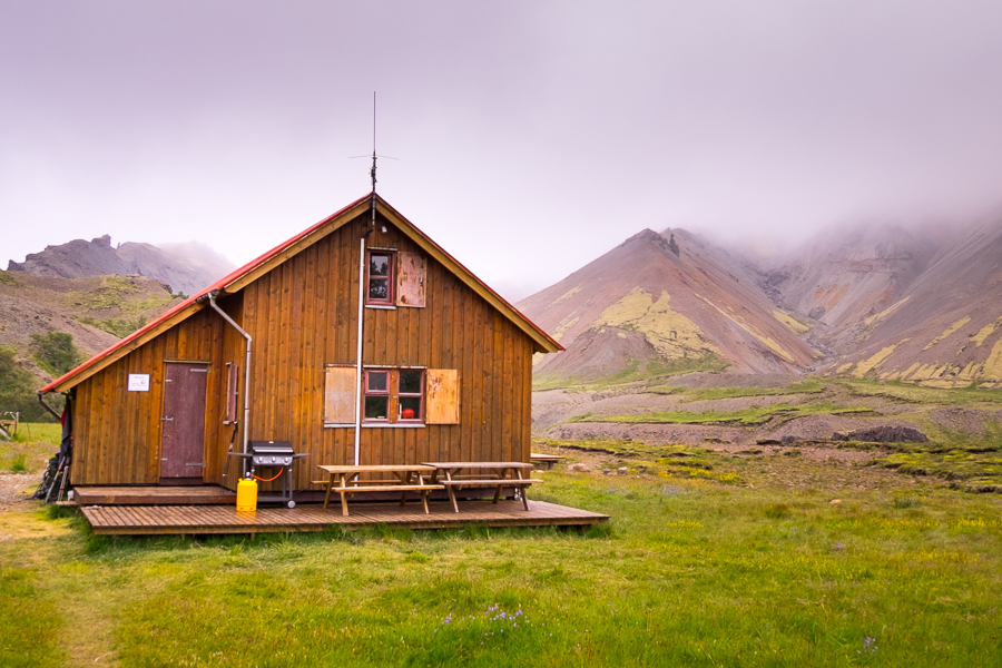 Múlaskáli Hut under grey skies - East Iceland