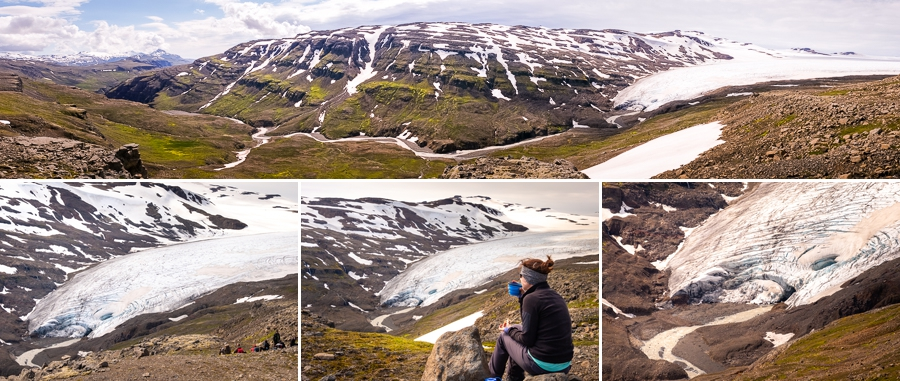 Glacier views on Day 2 of In the Shadow of Vatnajökull trek - East Iceland