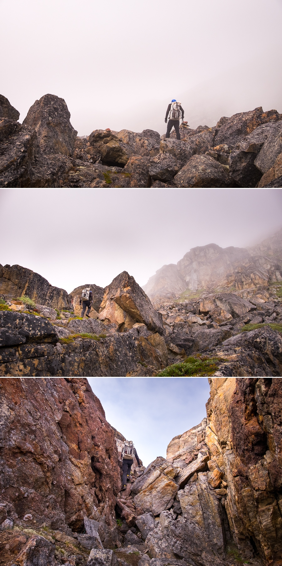 Images of some of the trickier parts of the trail between Assaqutaq and Sisimiut, West Greenland
