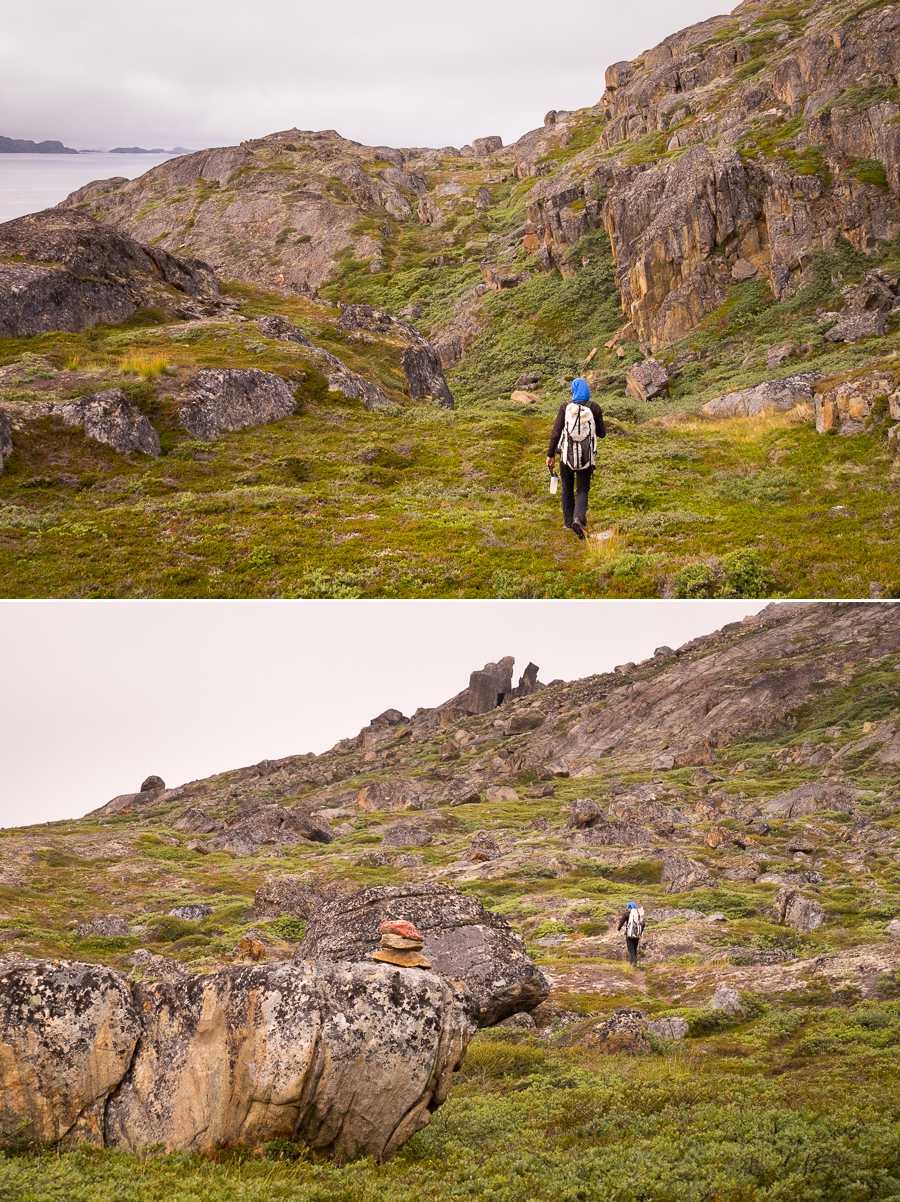 Images of the trail leading from Assaqutaq to Sisimiut, West Greenland