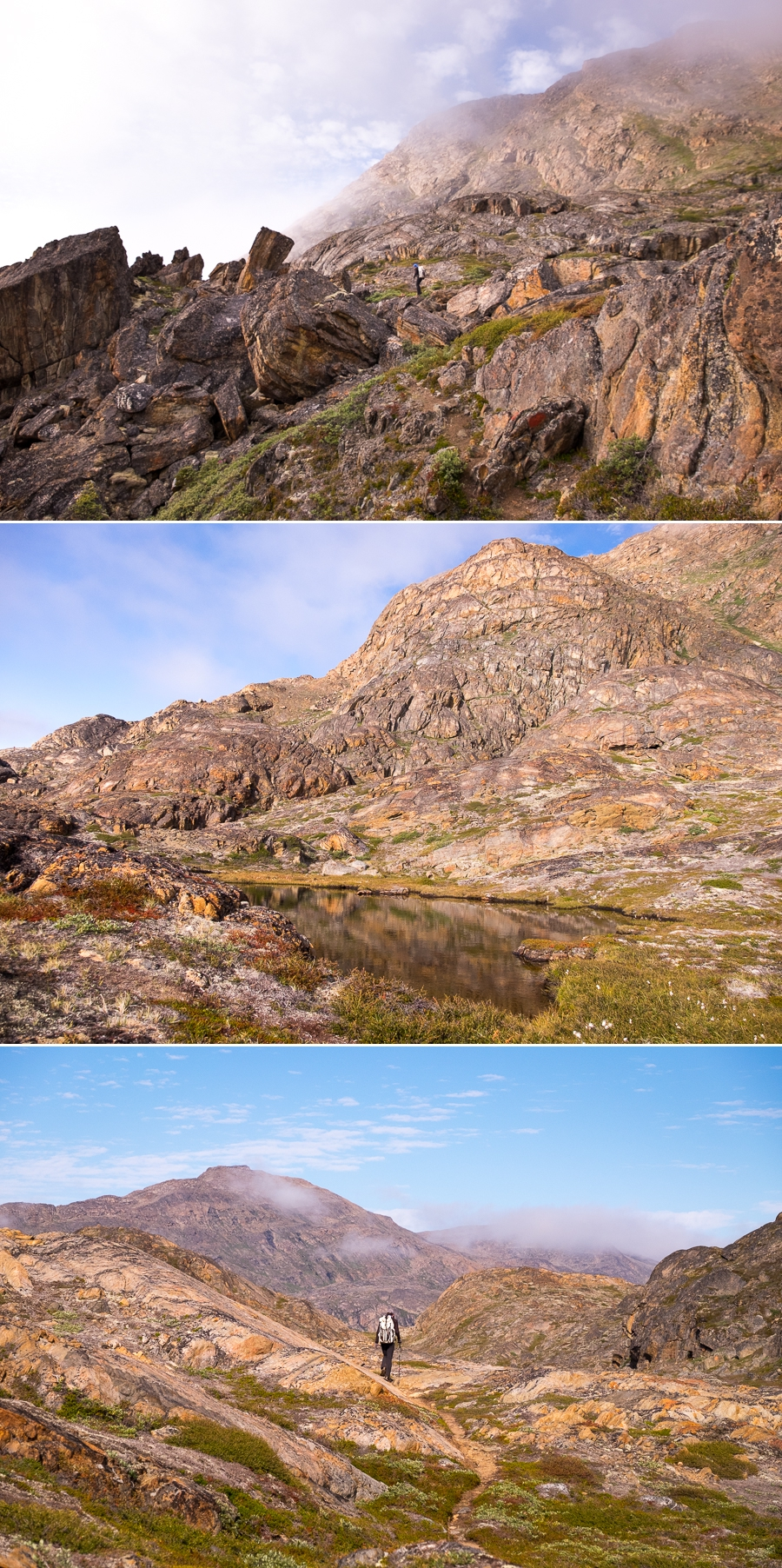 Images of the final parts of the trail between Assaqutaq and Sisimiut - once the sun had come out. West Greenland