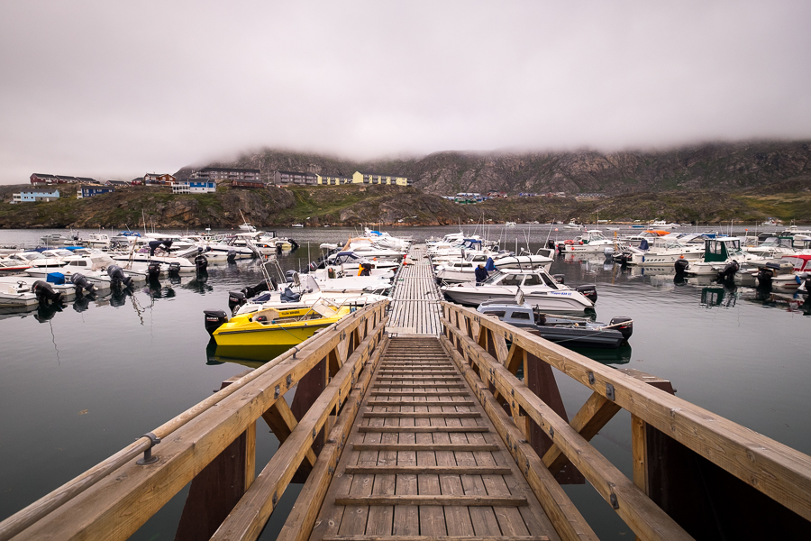The ramp down to where Jan's boat was docked in Sisimiut Harbour - West Greenland