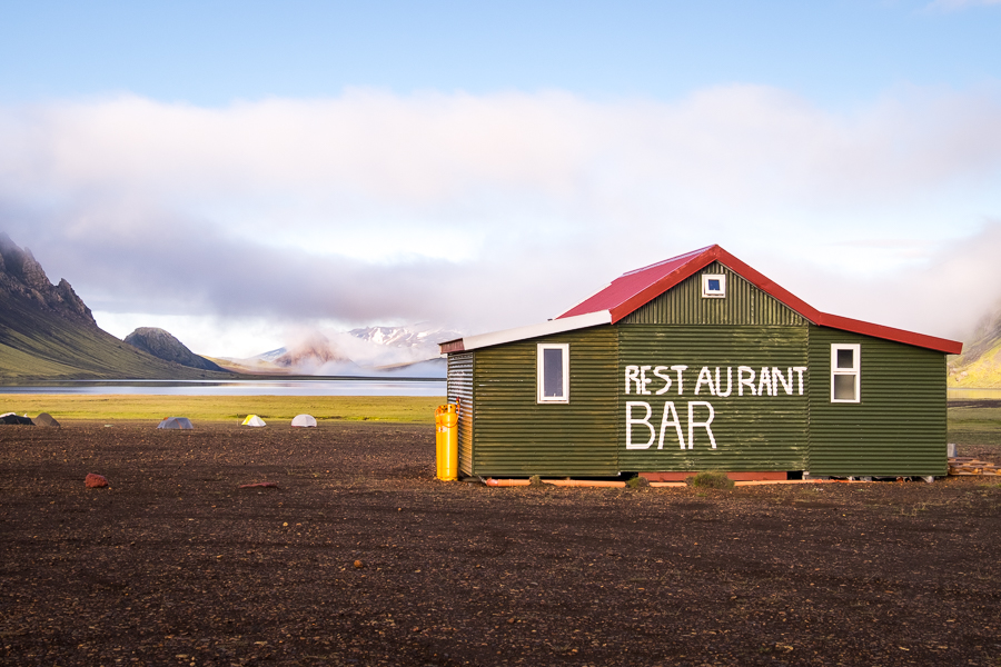 Bar/Restaurant near Álftavatn Hut - Volcanic Trails - Central Highlands, Iceland