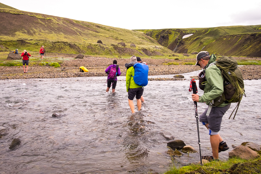 River crossing on Day 5 of Volcanic Trails - Central Highlands, Iceland