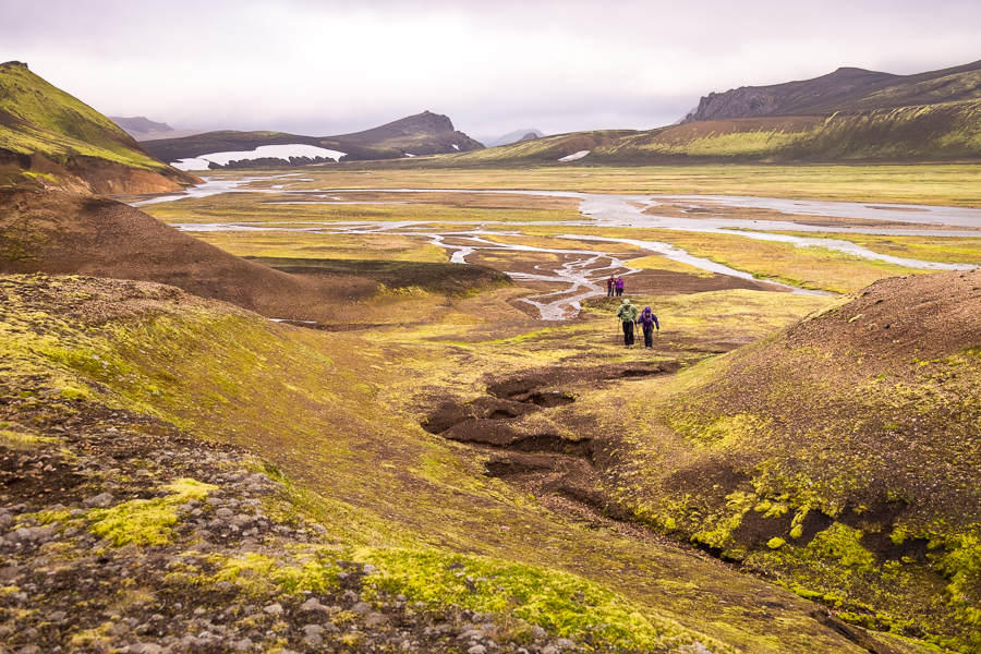 Climbing out of river valley - Volcanic Trails - Central Highlands, Iceland