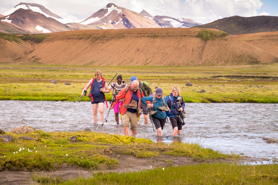 Final river crossing Day 6 - Volcanic Trails - Central Highlands, Iceland