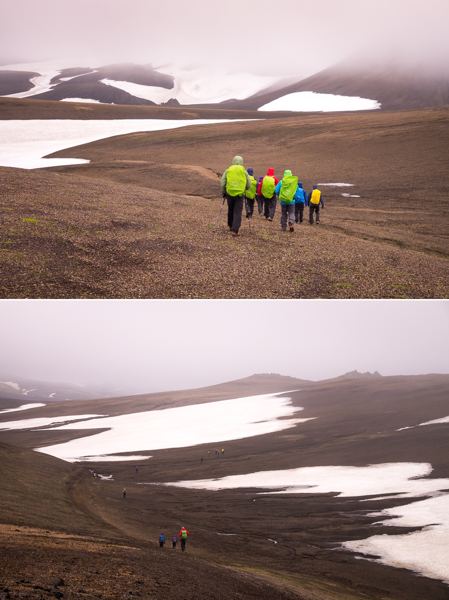 Hiking into the teeth of a very strong wind - Volcanic Trails - Central Highlands, Iceland