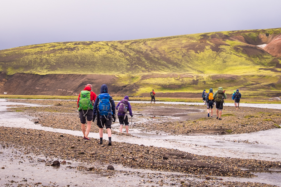River crossing Day 7 - Volcanic Trails - Central Highlands, Iceland