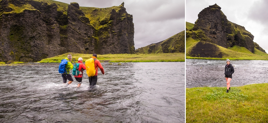 Fording the quite deep Syðri Ófæra river - Volcanic Trails - Central Highlands, Iceland