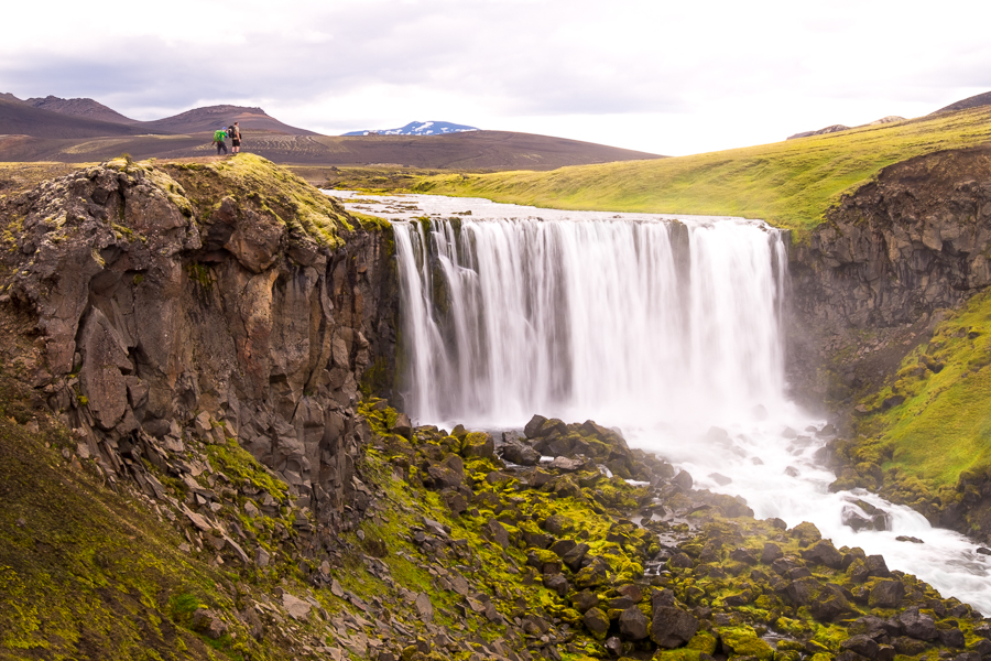 "The ""unnamed waterfall"" on the way to Dalakofinn Hut - Volcanic Trails - Central Highlands, Iceland"